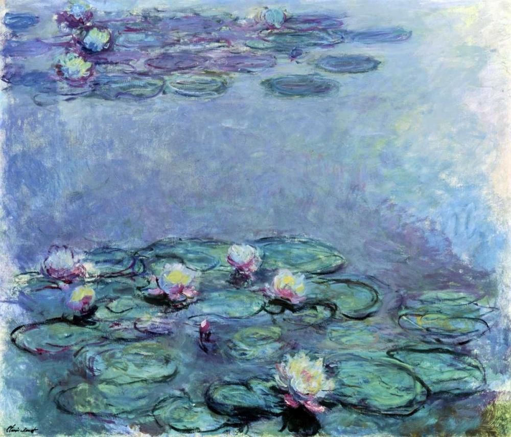 konfigurieren des Kunstdrucks in Wunschgröße Water Lilies - Nympheas 1914-1917 von Monet, Claude