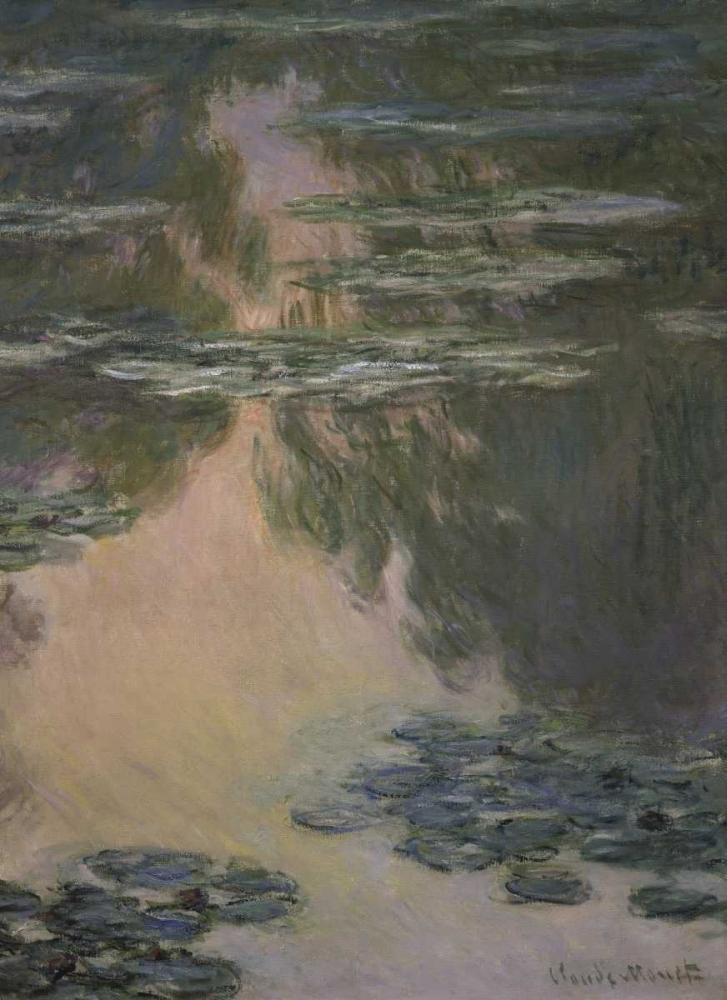 konfigurieren des Kunstdrucks in Wunschgröße Water Lilies - with Willows von Monet, Claude