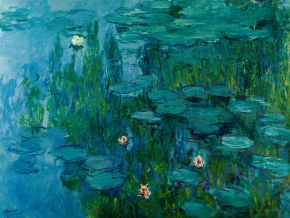 konfigurieren des Kunstdrucks in Wunschgröße Water Lilies, c.1918-21 von Monet, Claude