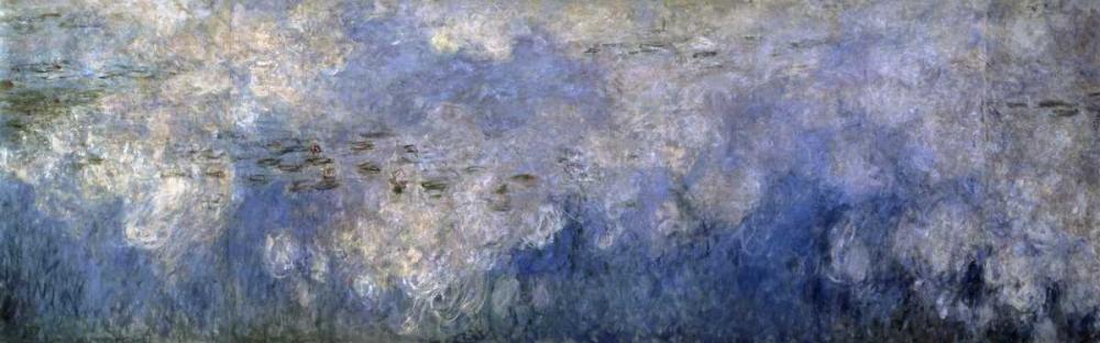 konfigurieren des Kunstdrucks in Wunschgröße Water Lilies: The Clouds, c. 1914-26 - center panel von Monet, Claude
