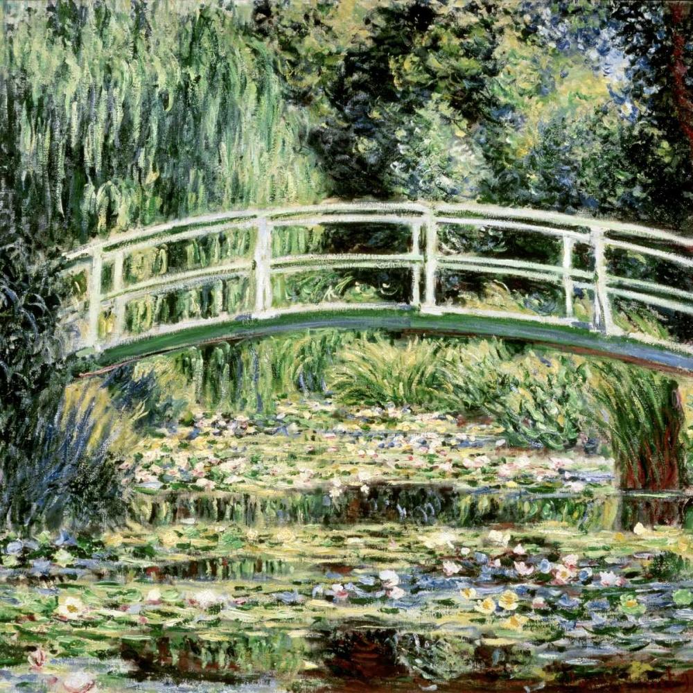 konfigurieren des Kunstdrucks in Wunschgröße Les nympheas blancs- The White Waterlilies von Monet, Claude