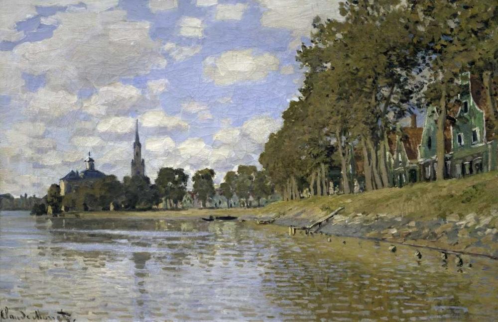 konfigurieren des Kunstdrucks in Wunschgröße Zaandam - Holland von Monet, Claude