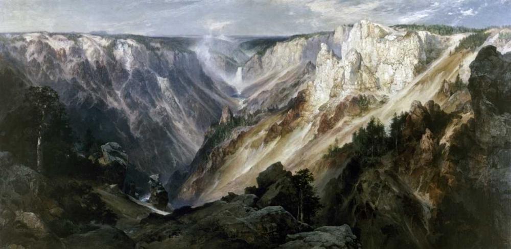 konfigurieren des Kunstdrucks in Wunschgröße Grand Canyon at Yellowstone von Moran, Thomas