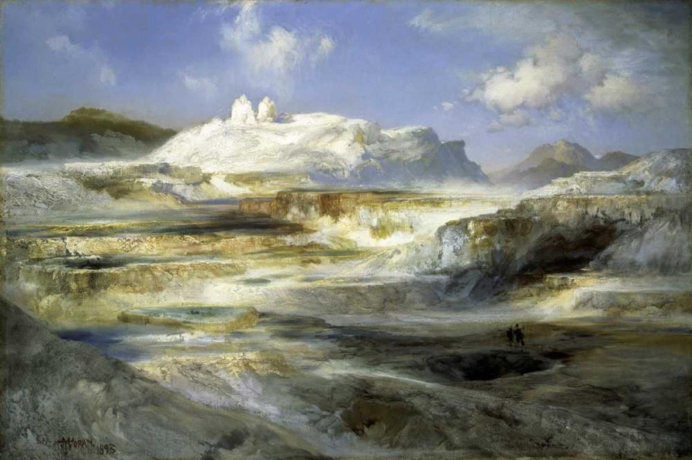konfigurieren des Kunstdrucks in Wunschgröße Jupiter Terrace, Yellowstone von Moran, Thomas