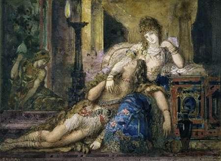 konfigurieren des Kunstdrucks in Wunschgröße Samson and Delilah von Moreau, Gustave