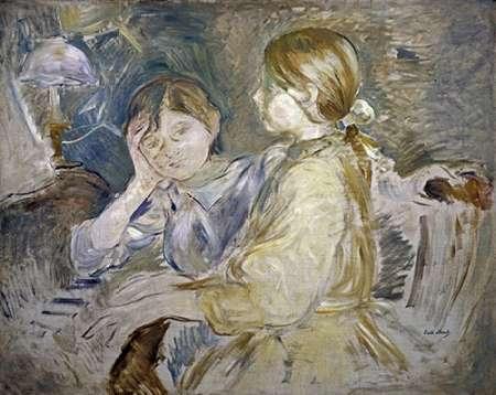 konfigurieren des Kunstdrucks in Wunschgröße Piano Lesson von Morisot, Berthe