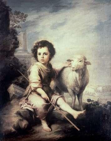 konfigurieren des Kunstdrucks in Wunschgröße Museumist Child As Shepherd von Murillo, Bartolome Esteban