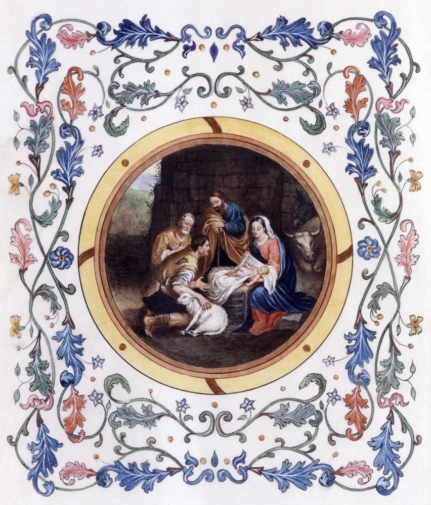 konfigurieren des Kunstdrucks in Wunschgröße Nativity With Illuminated Border von Murillo, Bartolome Esteban