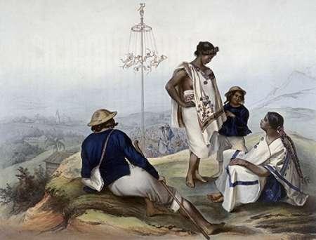 konfigurieren des Kunstdrucks in Wunschgröße Indians of The Guauchinango Mountains von Einzelbilder