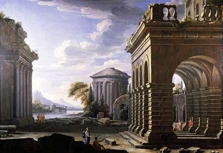 konfigurieren des Kunstdrucks in Wunschgröße Architectural Study von Panini, Giovanni Paolo