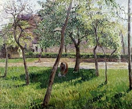 konfigurieren des Kunstdrucks in Wunschgröße An Enclosure in Eragny von Pissarro, Camille