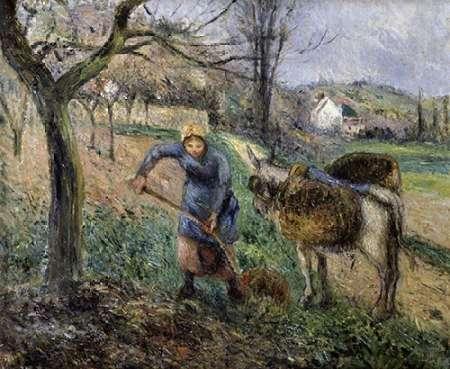 konfigurieren des Kunstdrucks in Wunschgröße Landscape with a Donkey von Pissarro, Camille