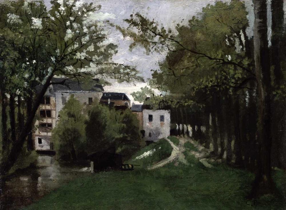 konfigurieren des Kunstdrucks in Wunschgröße Le Moulin a La Roche Guyon von Pissarro, Camille