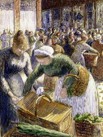 konfigurieren des Kunstdrucks in Wunschgröße Market at Pontoise, Paris von Pissarro, Camille