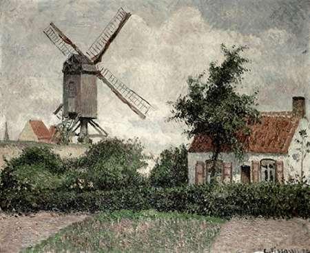 konfigurieren des Kunstdrucks in Wunschgröße Moulin a Knocke, Belgique von Pissarro, Camille