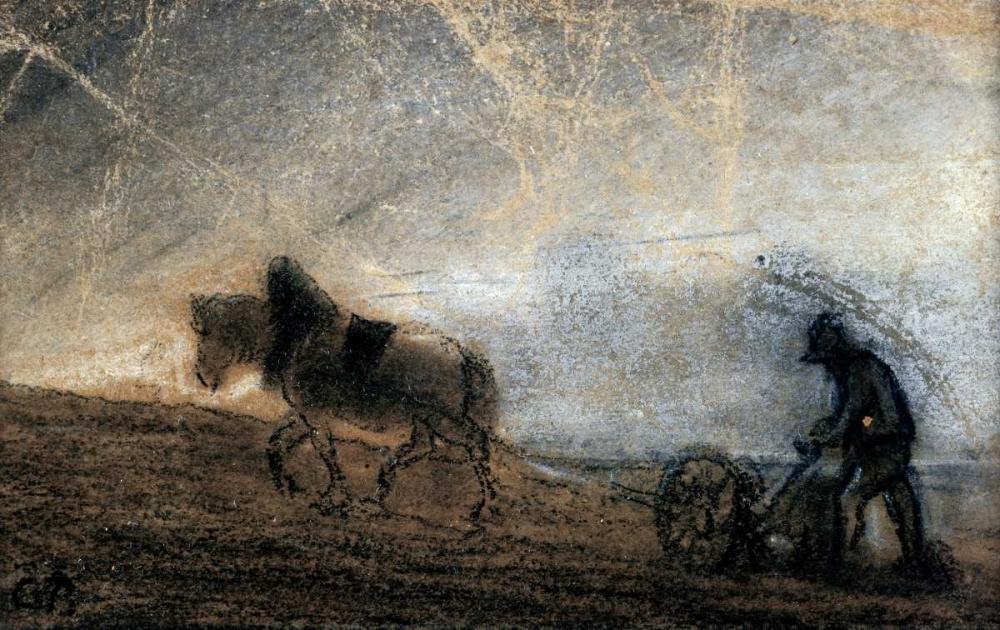 konfigurieren des Kunstdrucks in Wunschgröße Plowman von Pissarro, Camille