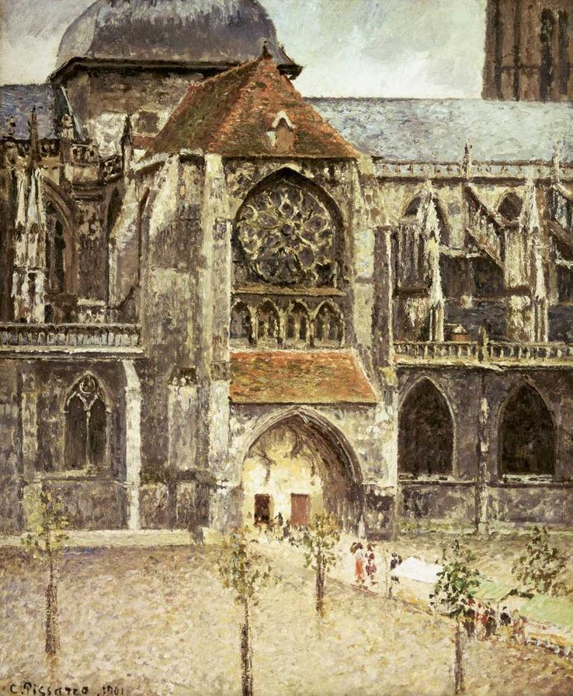 konfigurieren des Kunstdrucks in Wunschgröße Portal of the Saint Jacques Church in Dieppe von Pissarro, Camille