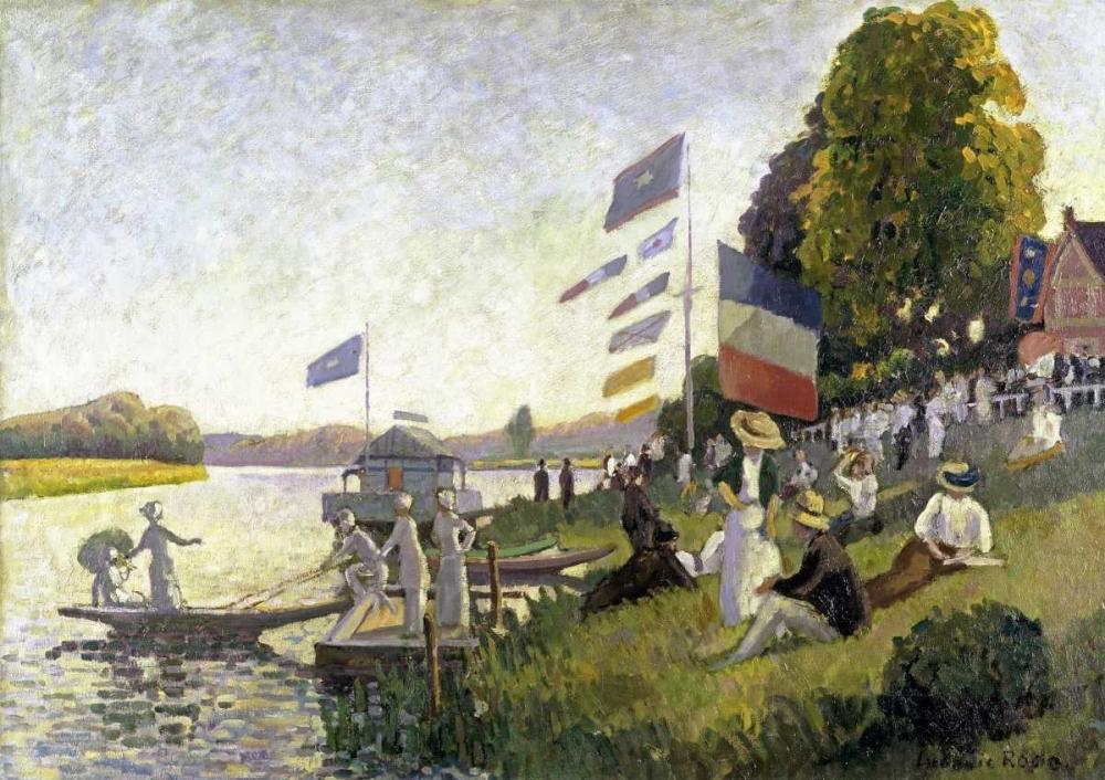 konfigurieren des Kunstdrucks in Wunschgröße Regatta von Pissarro, Camille