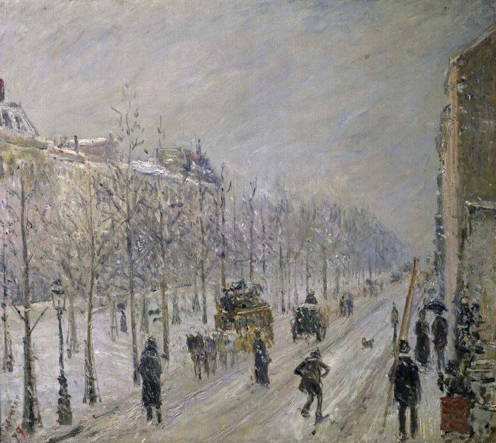 konfigurieren des Kunstdrucks in Wunschgröße The Effect of Snow on the Boulevards Appearance von Pissarro, Camille