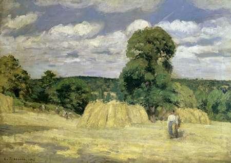 konfigurieren des Kunstdrucks in Wunschgröße The Harvest at Montfoucault von Pissarro, Camille