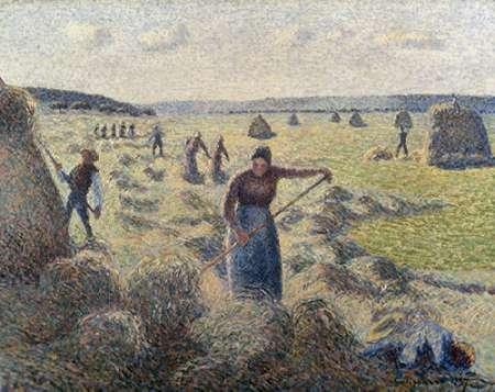 konfigurieren des Kunstdrucks in Wunschgröße The Hay Harvest, Eragny von Pissarro, Camille