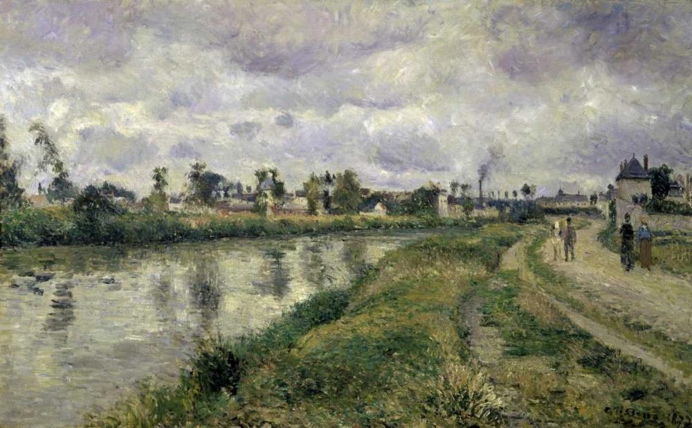 konfigurieren des Kunstdrucks in Wunschgröße The Rivers Edge von Pissarro, Camille