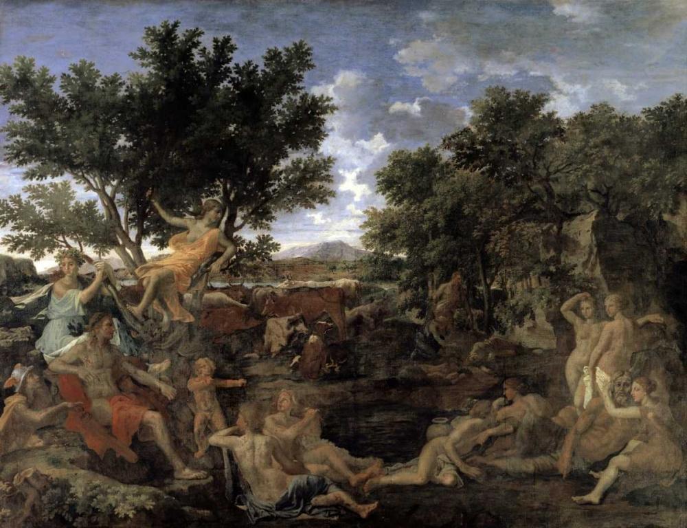 Apollo and Daphne von Poussin, Nicolas <br> max. 102 x 76cm <br> Preis: ab 10€