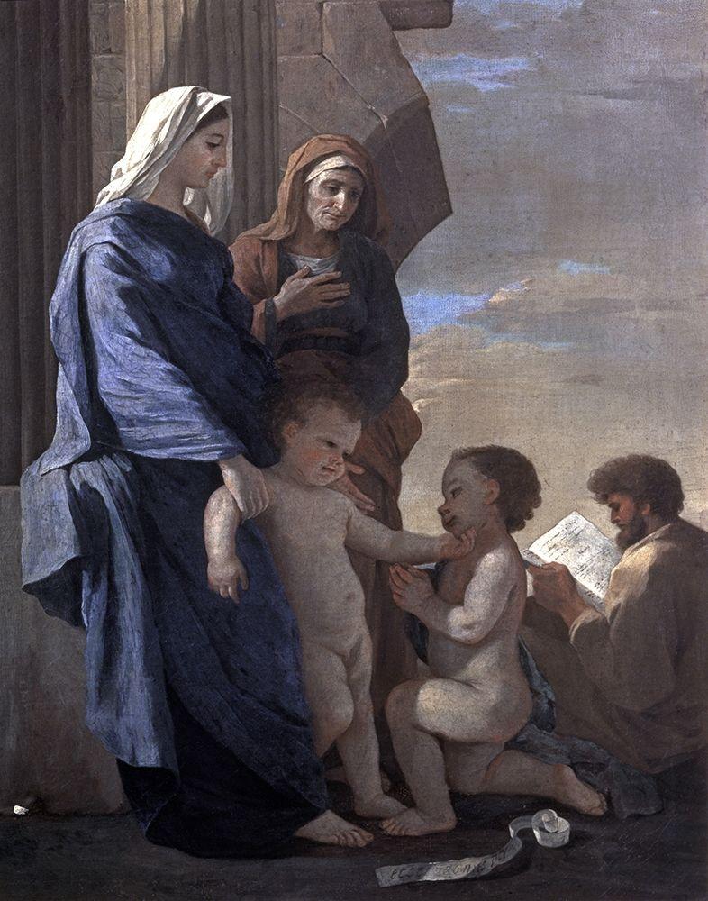 konfigurieren des Kunstdrucks in Wunschgröße Holy Family von Poussin, Nicolas