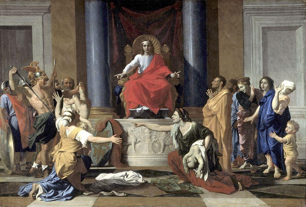 konfigurieren des Kunstdrucks in Wunschgröße Judgement of Solomon von Poussin, Nicolas