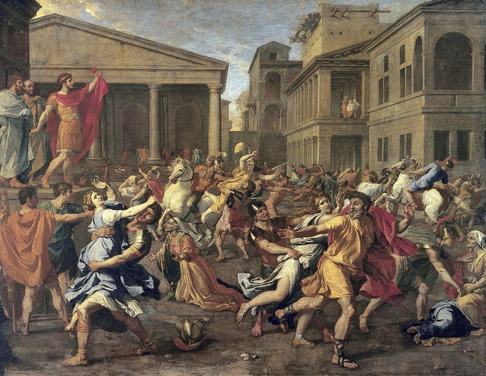 konfigurieren des Kunstdrucks in Wunschgröße Rape of The Sabines von Poussin, Nicolas