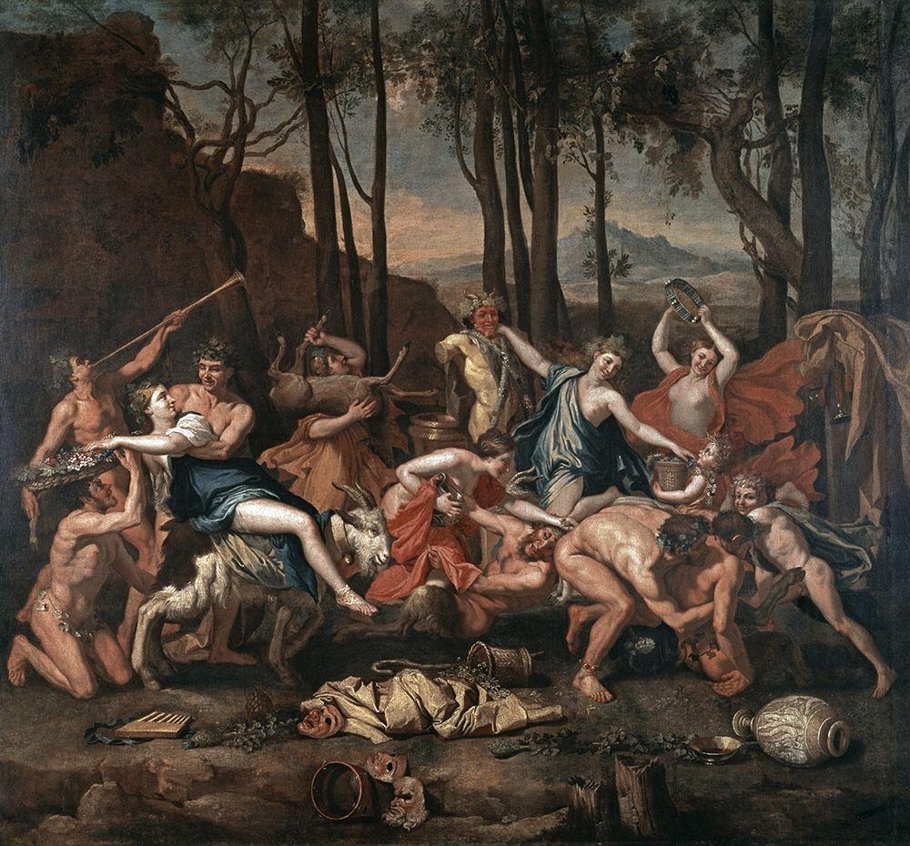 konfigurieren des Kunstdrucks in Wunschgröße Triumph of Pan von Poussin, Nicolas