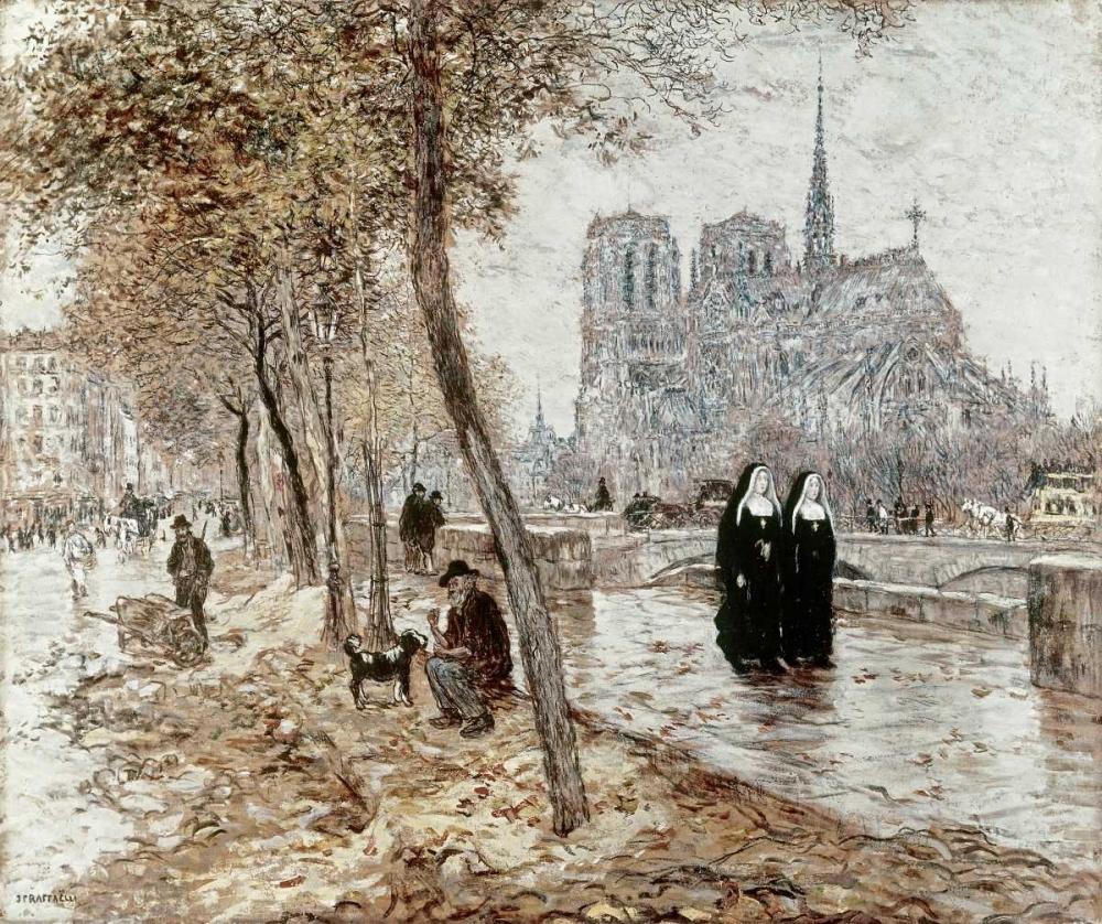 konfigurieren des Kunstdrucks in Wunschgröße Notre Dame De Paris von Einzelbilder