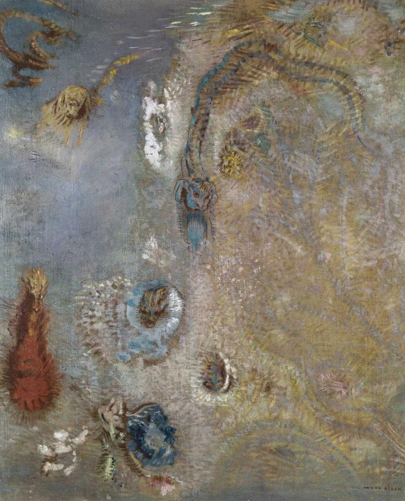konfigurieren des Kunstdrucks in Wunschgröße Abstract Fantasy von Redon, Odilion