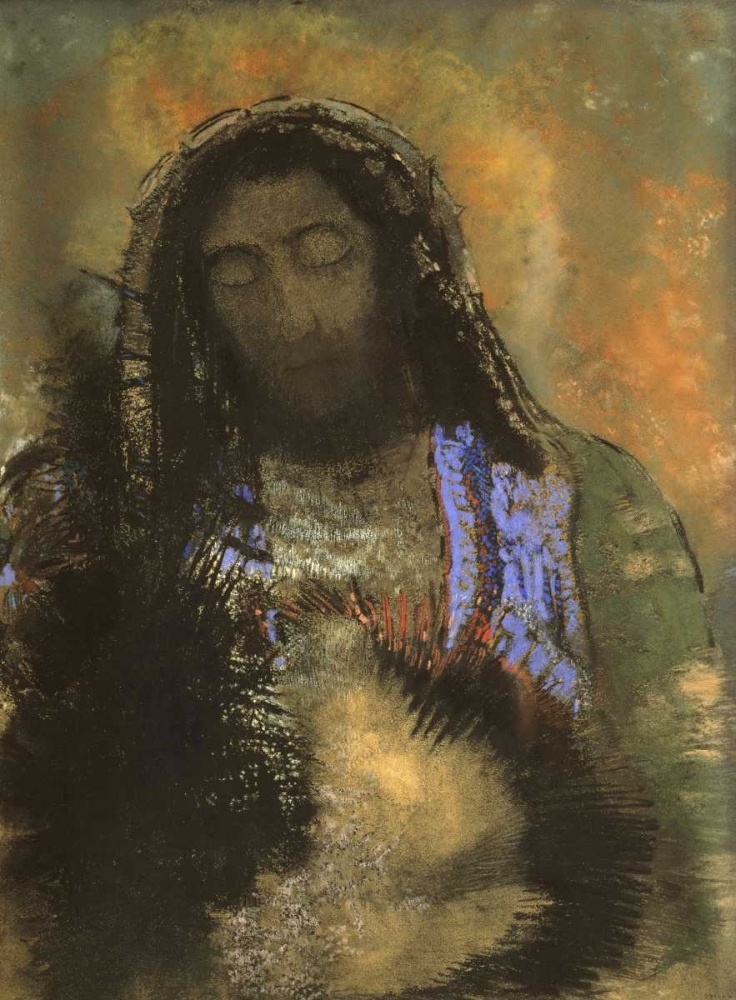 konfigurieren des Kunstdrucks in Wunschgröße Christ of the Sacred Heart von Redon, Odilion
