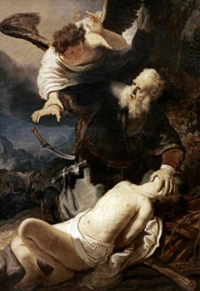 konfigurieren des Kunstdrucks in Wunschgröße Abraham and Isaac von Rembrandt, van Rijen