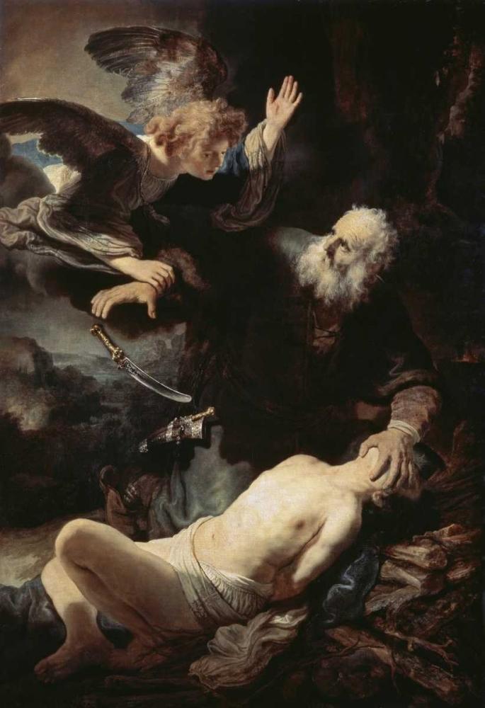 konfigurieren des Kunstdrucks in Wunschgröße Abrahams Sacrifice von Rembrandt, van Rijen
