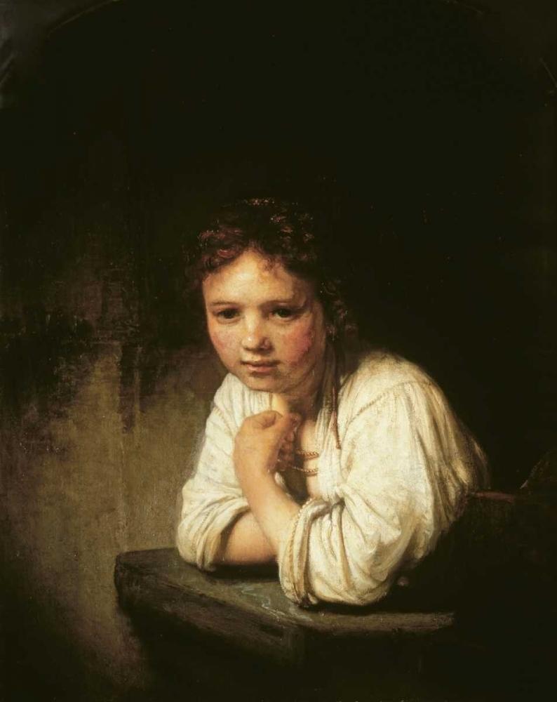 konfigurieren des Kunstdrucks in Wunschgröße Girl at Window von Rembrandt, van Rijen