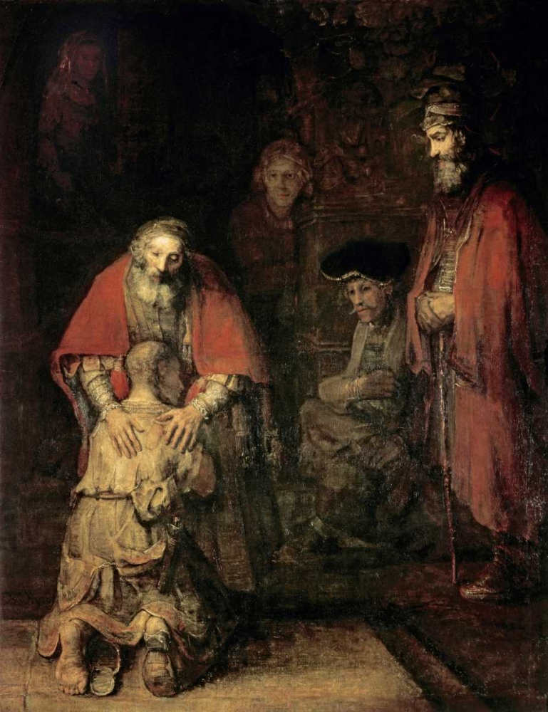 Return of The Prodigal Son von Rembrandt, van Rijen <br> max. 84 x 112cm <br> Preis: ab 10€