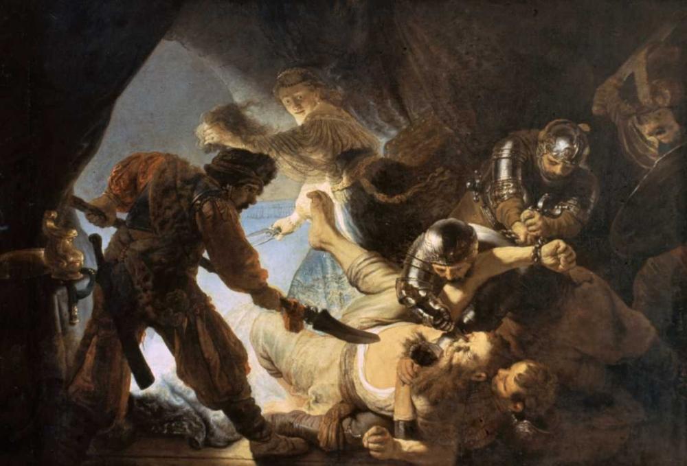konfigurieren des Kunstdrucks in Wunschgröße The Blinding of Samson von Rembrandt, van Rijen