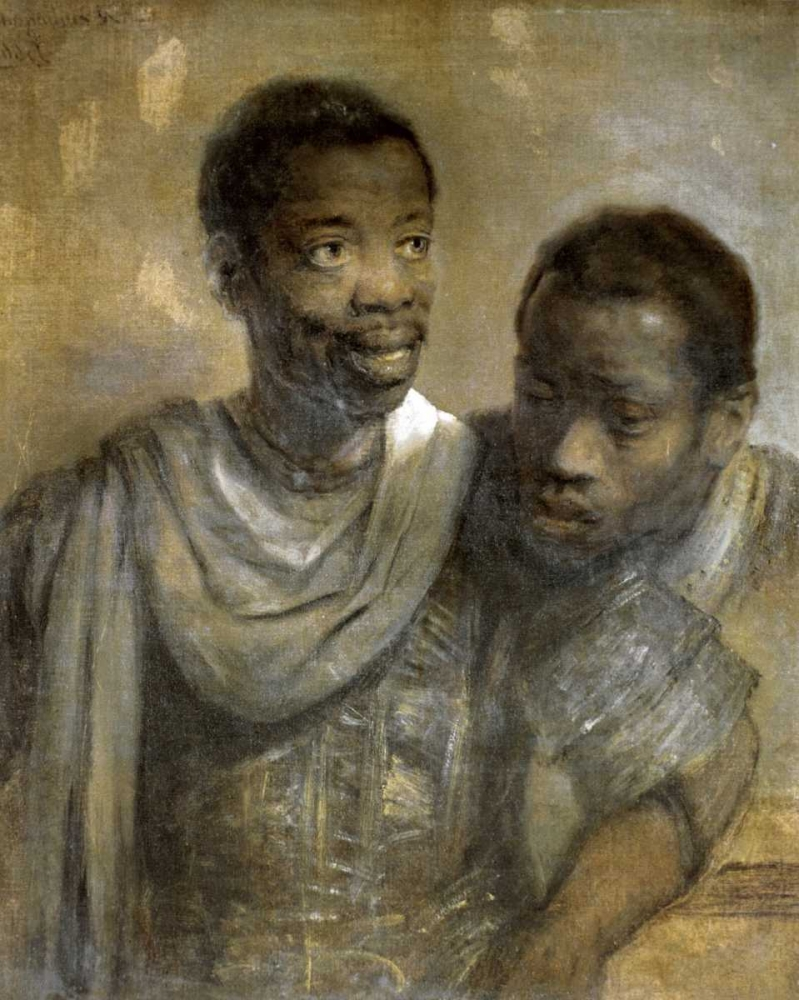 konfigurieren des Kunstdrucks in Wunschgröße Two Black Men von Rembrandt, van Rijen