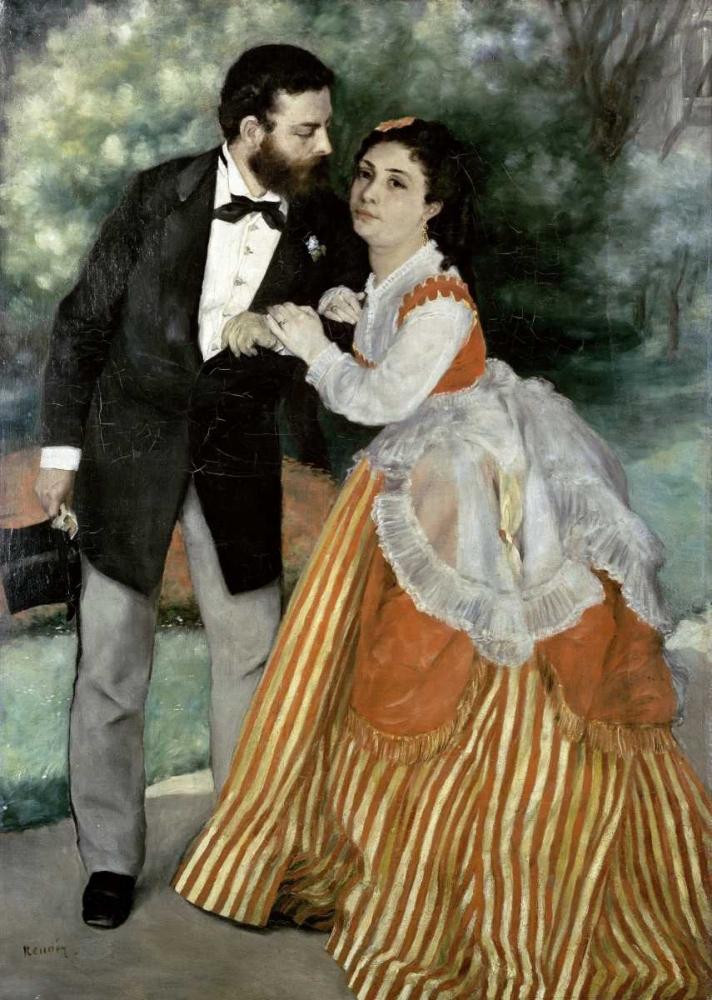 konfigurieren des Kunstdrucks in Wunschgröße Alfred Sisley and His Wife von Renoir, Pierre-Auguste