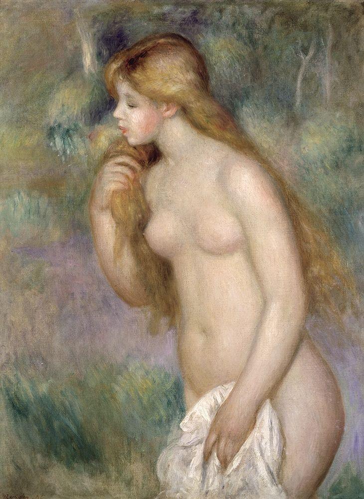 konfigurieren des Kunstdrucks in Wunschgröße Baigneuse Debout von Renoir, Pierre-Auguste