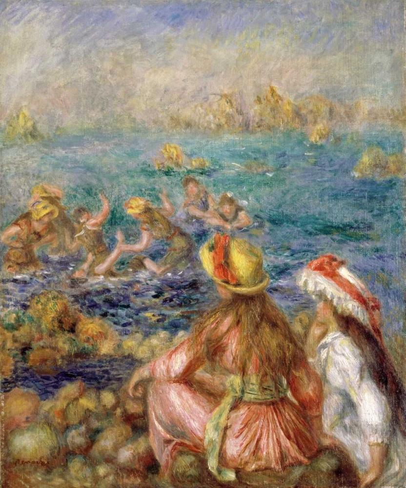 konfigurieren des Kunstdrucks in Wunschgröße Bathers von Renoir, Pierre-Auguste