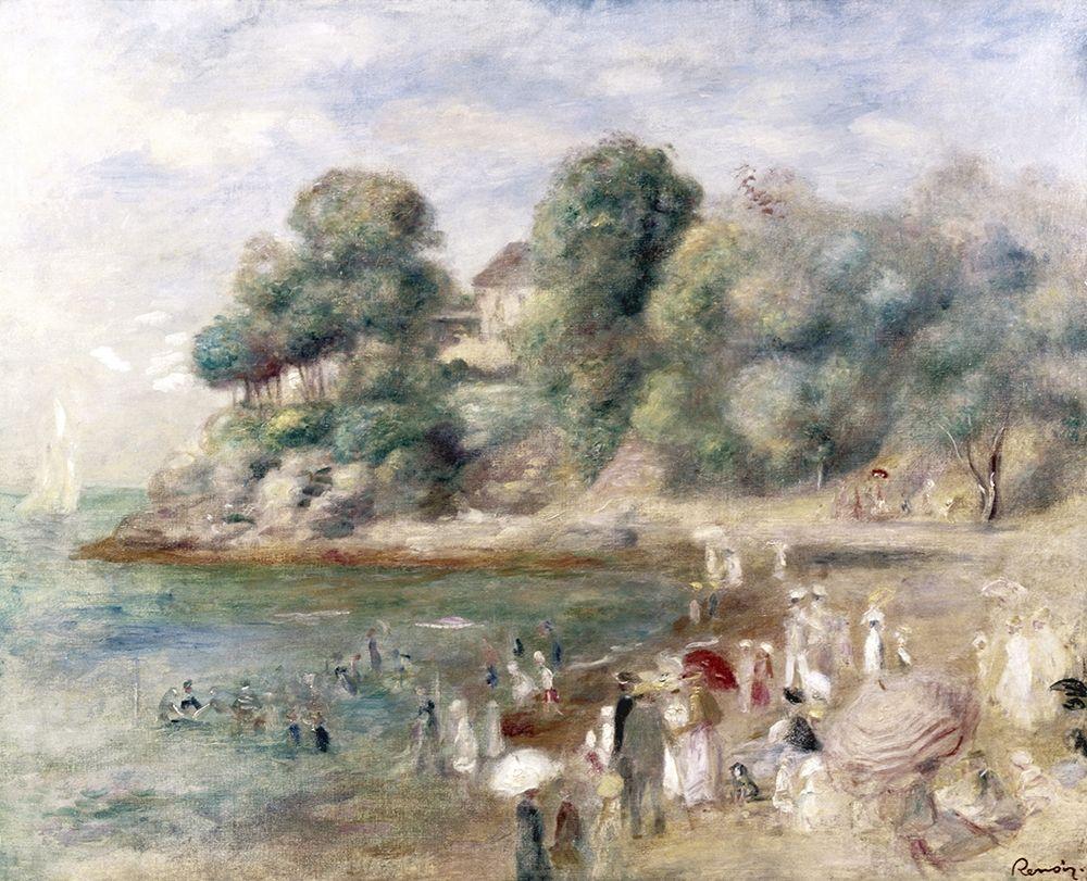 konfigurieren des Kunstdrucks in Wunschgröße Beach at Pornic von Renoir, Pierre-Auguste