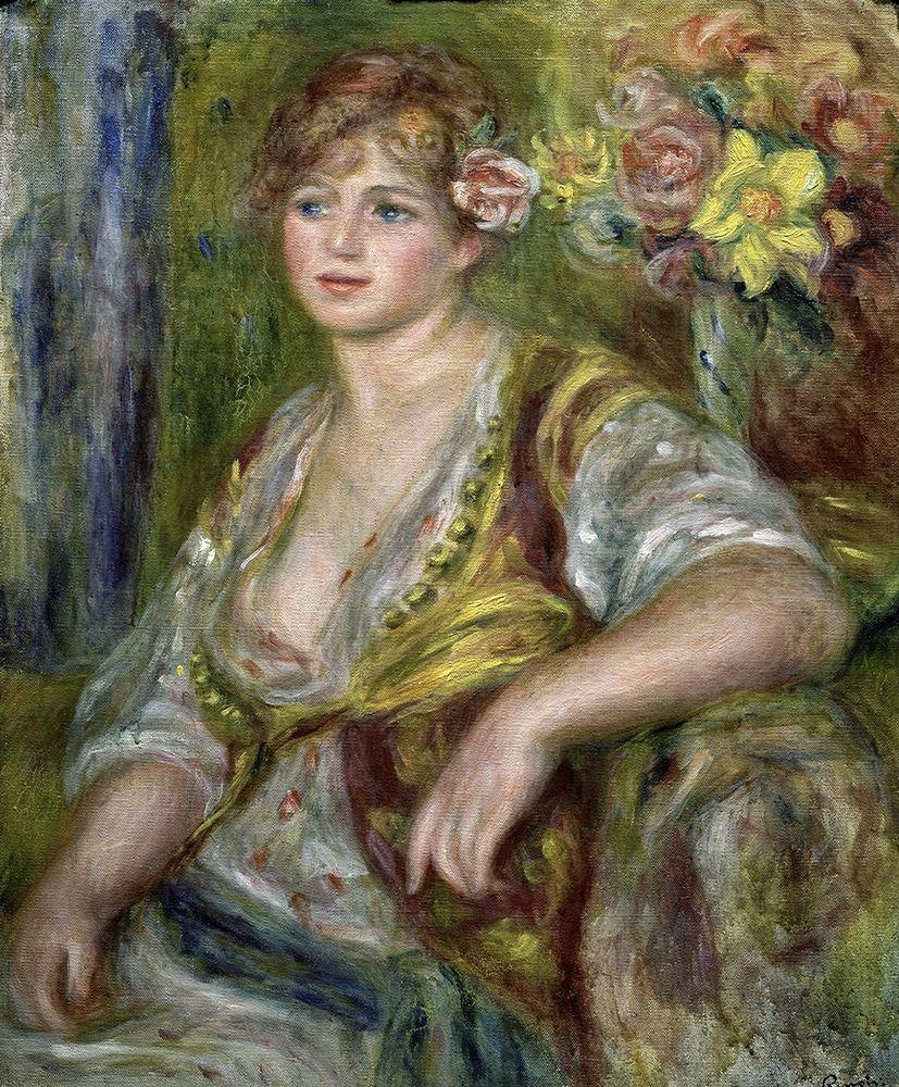 konfigurieren des Kunstdrucks in Wunschgröße Blonde in Pink von Renoir, Pierre-Auguste