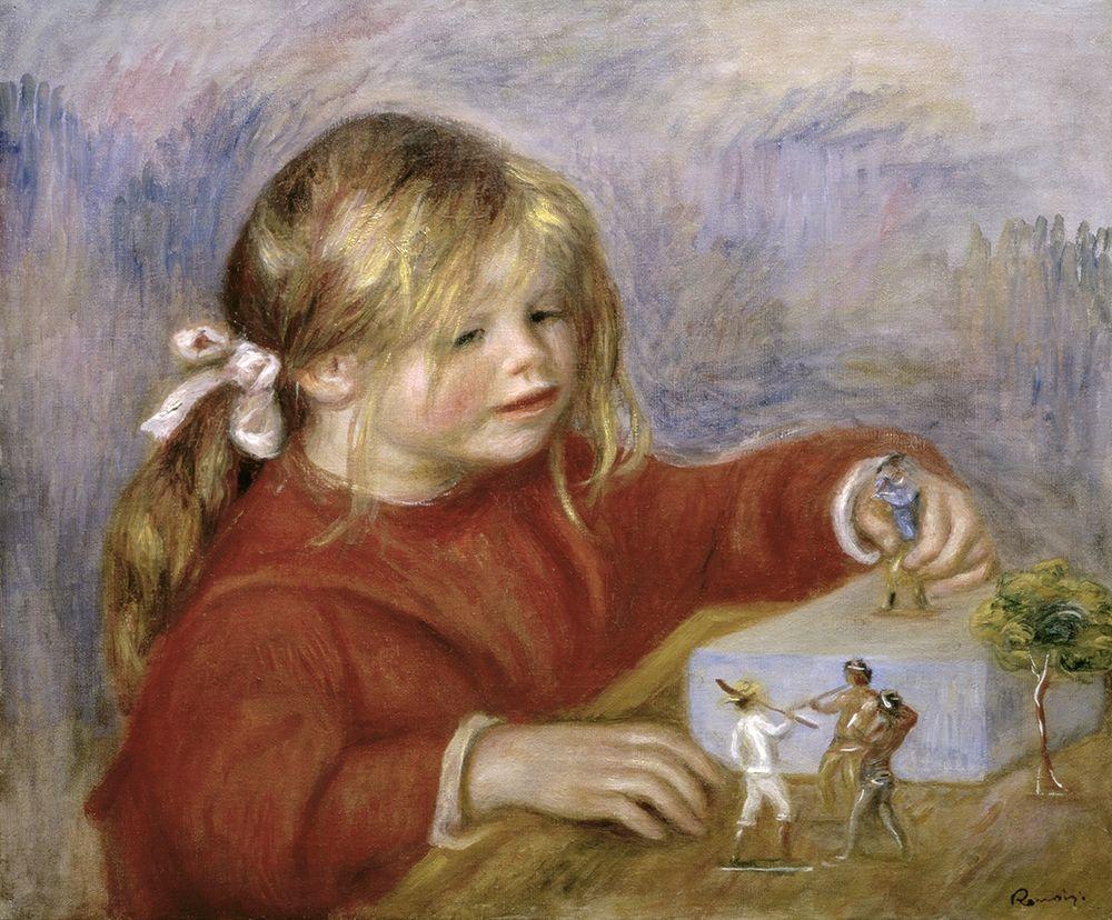 konfigurieren des Kunstdrucks in Wunschgröße Claude Renoir Playing von Renoir, Pierre-Auguste