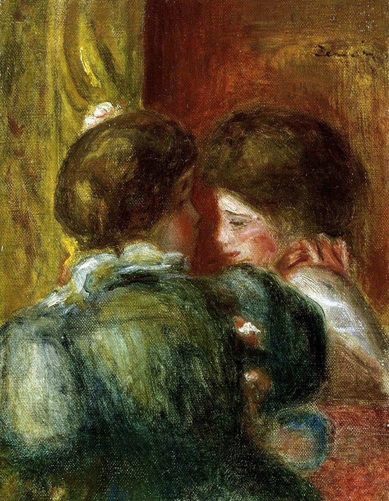 konfigurieren des Kunstdrucks in Wunschgröße Deux Tetes de Femmes, or La Loge von Renoir, Pierre-Auguste