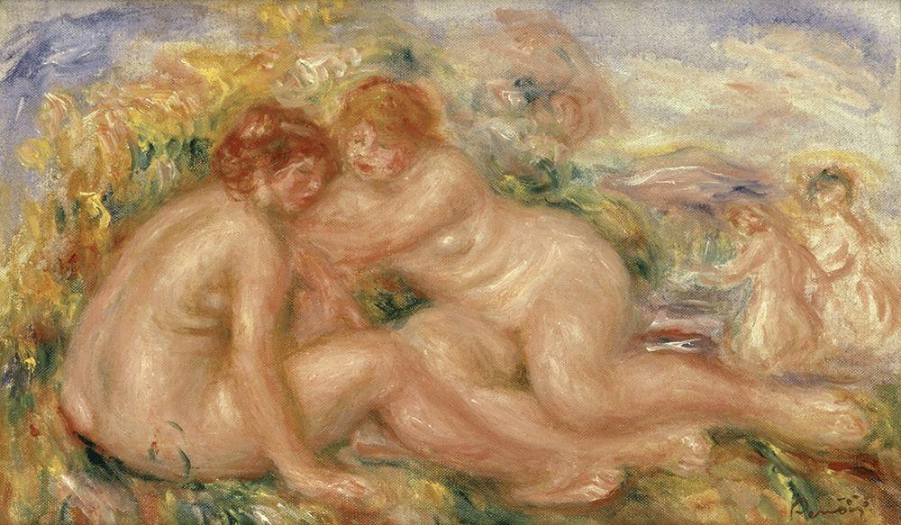 konfigurieren des Kunstdrucks in Wunschgröße Four Bathers von Renoir, Pierre-Auguste