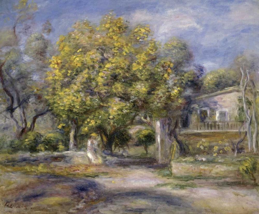 Houses at Cagnes von Renoir, Pierre-Auguste <br> max. 97 x 79cm <br> Preis: ab 10€