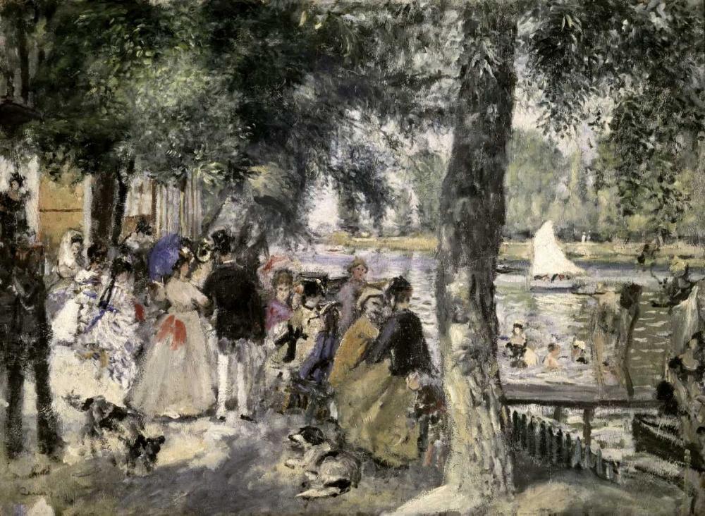 konfigurieren des Kunstdrucks in Wunschgröße La Grenouilliere - Bathers In The Seine von Renoir, Pierre-Auguste